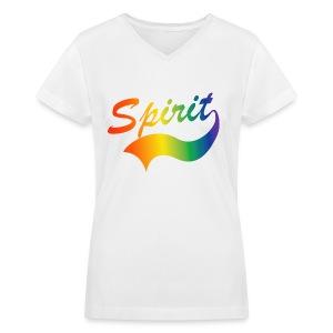 Spirit Women's V-neck shirt - Women's V-Neck T-Shirt