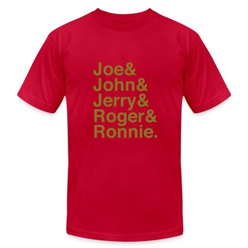 49ers (1988) (Gold glitter) - Men's Fine Jersey T-Shirt