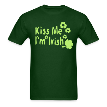 Kiss Me I'm Irish & shamrock Men's Standard Weight T-Shirt