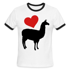 Llama Love - Men's Ringer T-Shirt