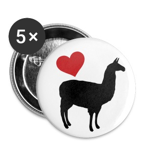 Llama Love - Small Buttons