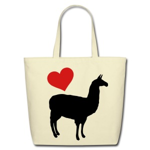 Llama Love - Eco-Friendly Cotton Tote