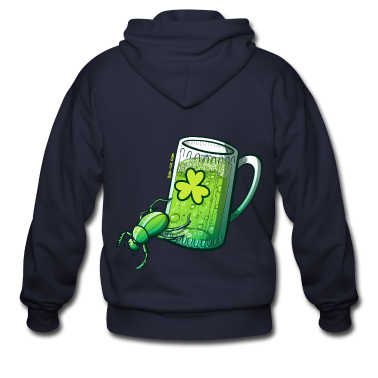 Saint Patrick's Day Beetle Zip Hoodies/Jackets