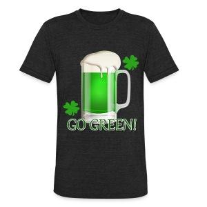Go Green! Dark Shirt - Unisex Tri-Blend T-Shirt
