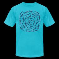 T-Shirts ~ Men's T-Shirt by American Apparel ~ animal t-shirt hammerhead shark shovelhead fish dive diver diving