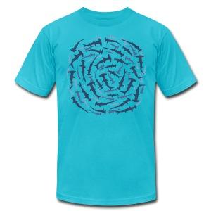 animal t-shirt hammerhead shark shovelhead fish dive diver diving - Men's Fine Jersey T-Shirt