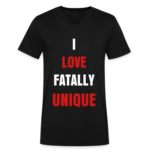 I love FatallyUnique Mens V-Neck - Men's V-Neck T-Shirt by Canvas