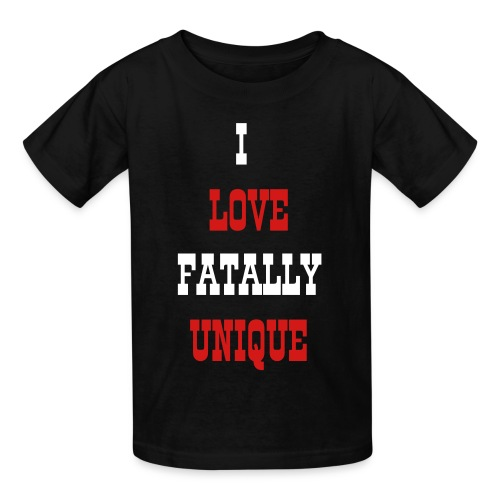 Children's I Love FatallyUnique Shirt - Kids' T-Shirt