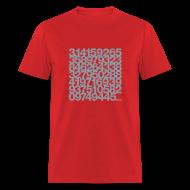 T-Shirts ~ Men's T-Shirt ~ Pi shirt - Silver print unisex tee