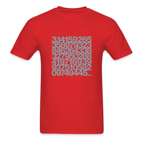 Pi shirt - Silver print unisex tee - Men's T-Shirt