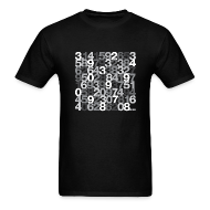 T-Shirts ~ Men's T-Shirt ~ Pi shirt - Black/grey unisex tee