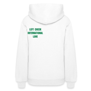 Left Cheek International Love Women's Hooded Sweatshirt - Women's Hoodie