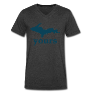 T-Shirts ~ Men's V-Neck T-Shirt by Canvas ~ Up Yours