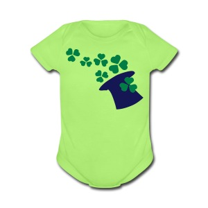 Shamtock & hat st.patrick's day Baby Short Sleeve One Piece - Short Sleeve Baby Bodysuit