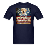 T-Shirts ~ Men's T-Shirt ~ Official Dogs Against Romney Labrador Retriever Tee