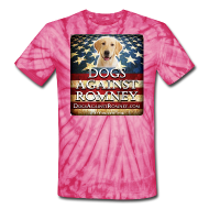 T-Shirts ~ Unisex Tie Dye T-Shirt ~ Official Dogs Against Romney Labrador Retriever Tie-Dye Tee