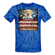 T-Shirts ~ Unisex Tie Dye T-Shirt ~ Official Dogs Against Romney Labrador Retriever Tie-Dye Tee