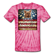T-Shirts ~ Unisex Tie Dye T-Shirt ~ Official Dogs Against Romney Yorkie Tie-Dye Tee