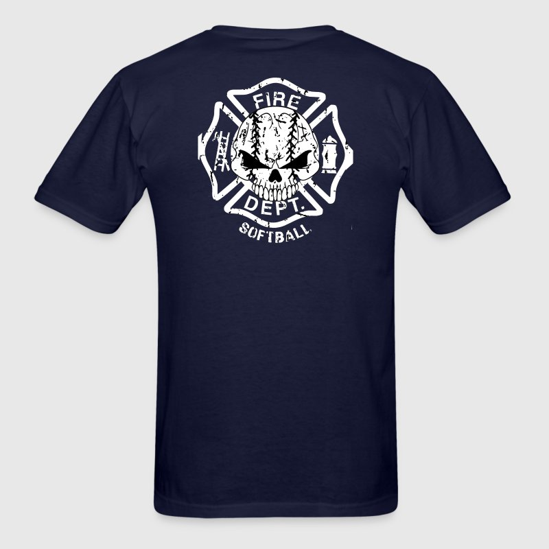 Fire dept softball shirt jersey T-Shirts - Men's T-Shirt
