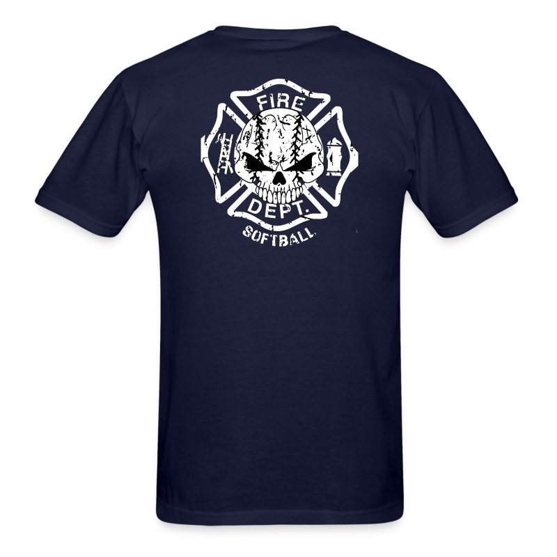 Fire dept softball shirt jersey t shirt spreadshirt for On fire brand t shirts
