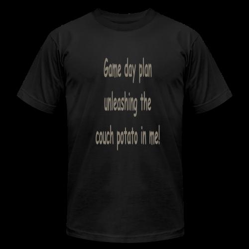 Game day plan - Men's Fine Jersey T-Shirt