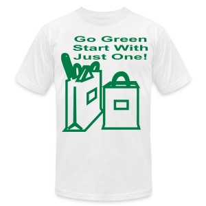 Go green start with just one - Men's T-Shirt by American Apparel