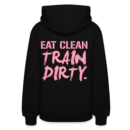 (Back Print) Train dirty womens hoodie - Women's Hoodie