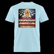 T-Shirts ~ Men's T-Shirt ~ Official Dogs Against Romney Golden Retriever Tee