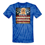 T-Shirts ~ Unisex Tie Dye T-Shirt ~ Official Dogs Against Romney Golden Retriever Tie Dye Tee