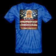 T-Shirts ~ Unisex Tie Dye T-Shirt ~ Official Dogs Against Romney Golden Retriever Tie Dye Tee