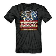 T-Shirts ~ Unisex Tie Dye T-Shirt ~ Official Dogs Against Romney Pit Bull Tie Dye Tee