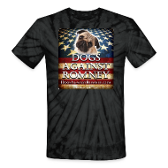 T-Shirts ~ Unisex Tie Dye T-Shirt ~ Official Dogs Against Romney Pug Tie Dye Tee