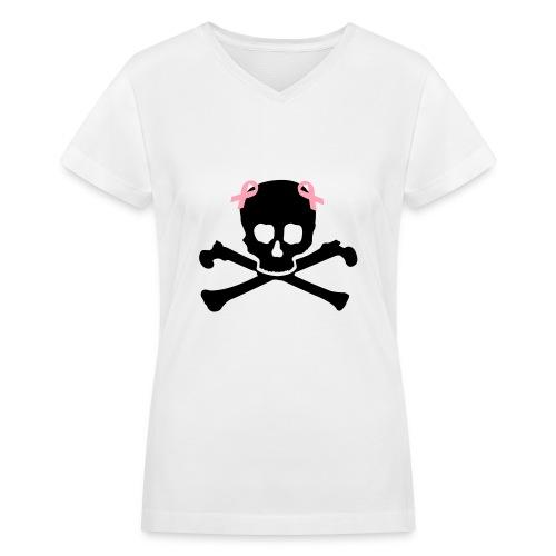 OTM V-Neck Skull - Women's V-Neck T-Shirt