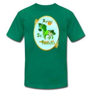 Appy St. Patrick's Oval - Men's T-Shirt by American Apparel