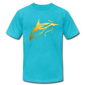 One Golden Dolphin - Men's T-Shirt by American Apparel