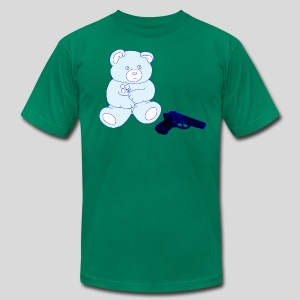 Gun Bear - Men's T-Shirt by American Apparel