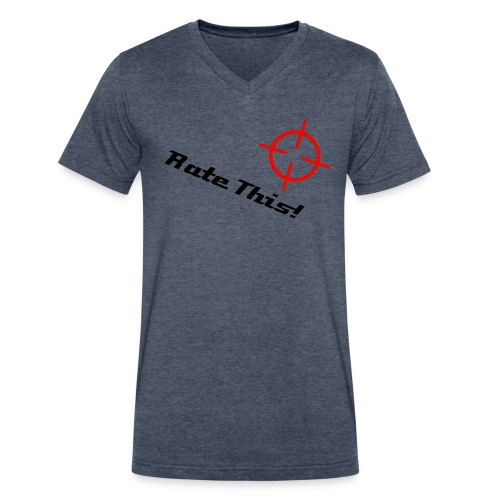 Dark Blue Rate This T-shirt ! - Men's V-Neck T-Shirt by Canvas