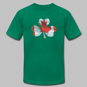 Canadian Shamrock - Men's T-Shirt by American Apparel
