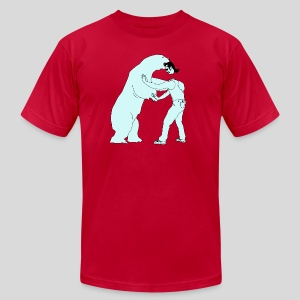 Mullethead vs Polar Bear - Men's T-Shirt by American Apparel