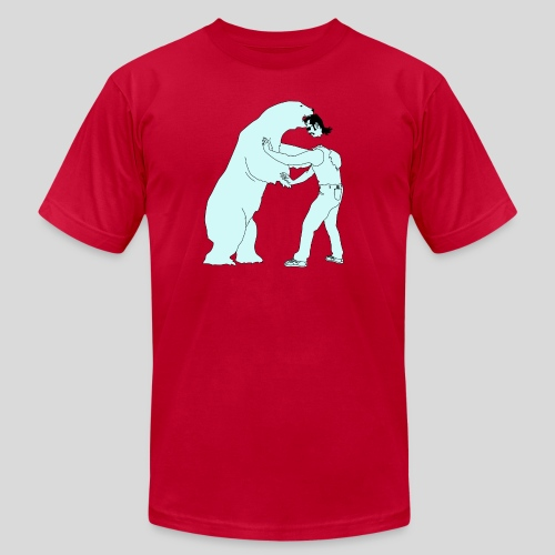 Mullethead vs Polar Bear - Men's Fine Jersey T-Shirt