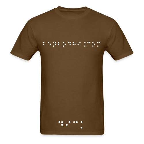 Braille Rudeness 1 - Men's T-Shirt