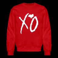 Long Sleeve Shirts ~ Crewneck Sweatshirt ~ CREW Love- XO Alternative Red