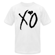 T-Shirts ~ Men's T-Shirt by American Apparel ~ XO Signature Tee- (Black XO on White)