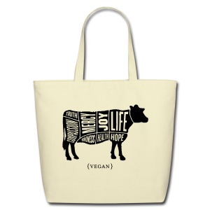 Cow Design with Don't Do Nothing Quote - Eco-Friendly Cotton Tote