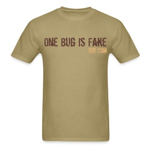 Men's Tan Warning Tee - Men's T-Shirt