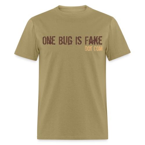 Men's Tan Warning Tee - Men's T-Shirt