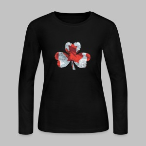 Canadian Shamrock - Women's Long Sleeve Jersey T-Shirt
