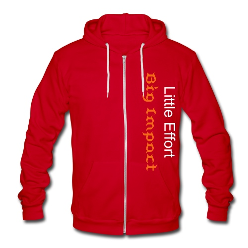 Little Effort, Big Impact - Unisex Fleece Zip Hoodie
