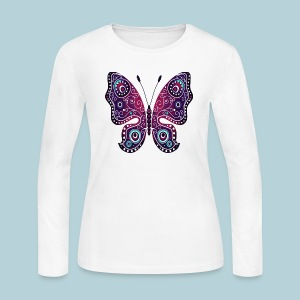 Tribal Butterfly - Women's Long Sleeve Jersey T-Shirt