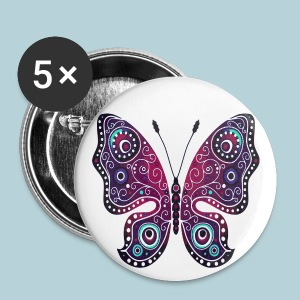 Tribal Butterfly - Large Buttons
